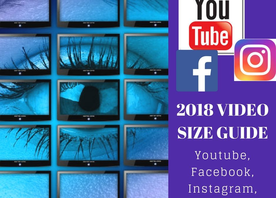 2018 Video size guide Youtube, Facebook, Instagram, Twitter: